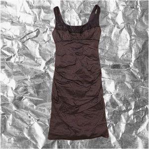 Sz 4 Nicole Miller Purple Pin striped tight dress